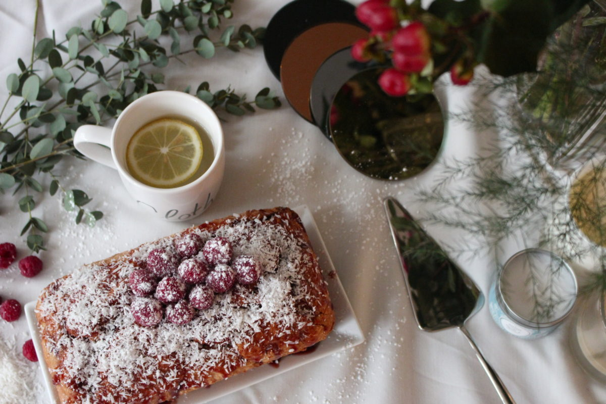 Gâteau coco/framboise sans gluten