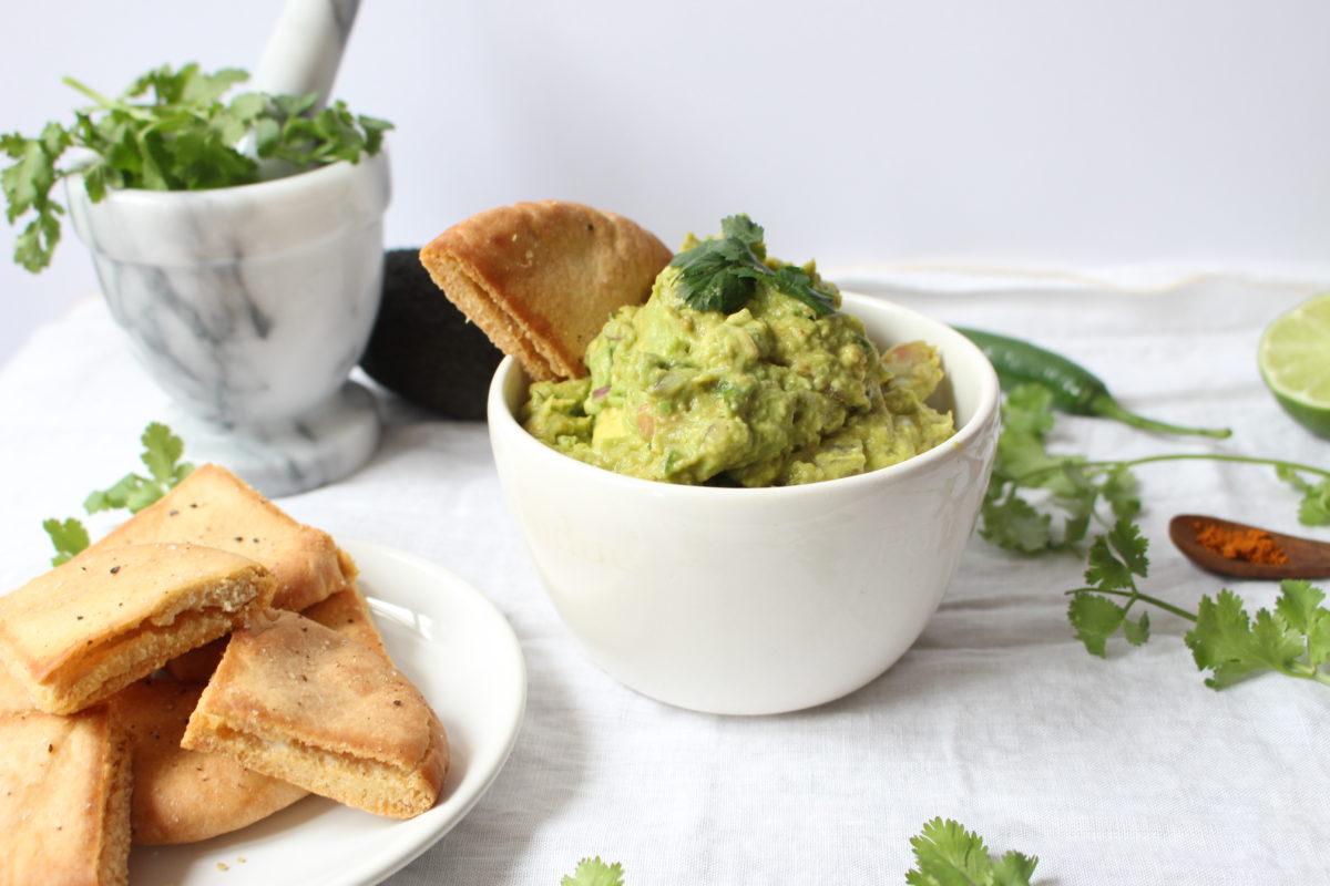 Guacamole et Chips de Pita