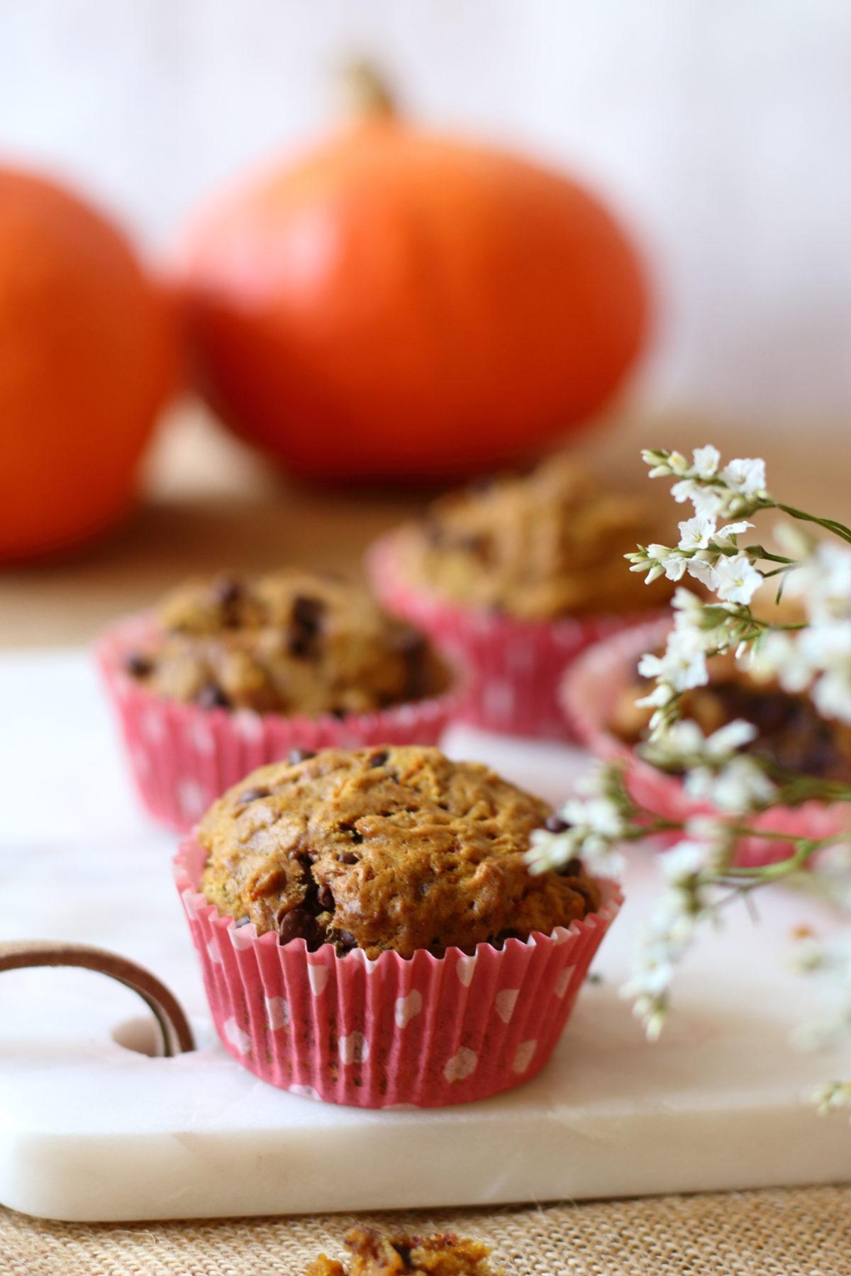 Muffins au Potimarron (Vegan & sans gluten)