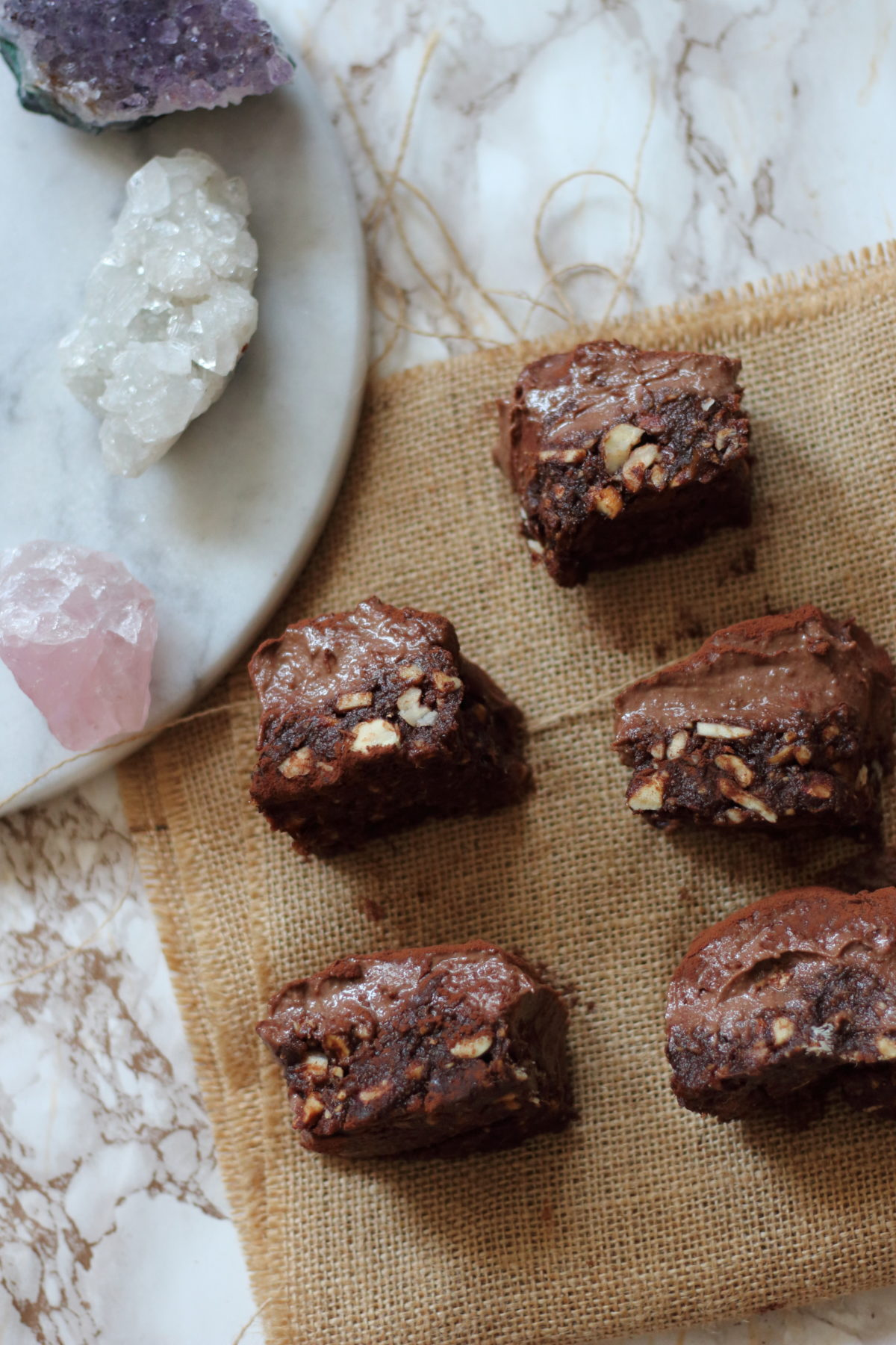 Raw Choco Date Almond butter fudge bars