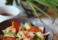 sweet potato salon asian pear salad