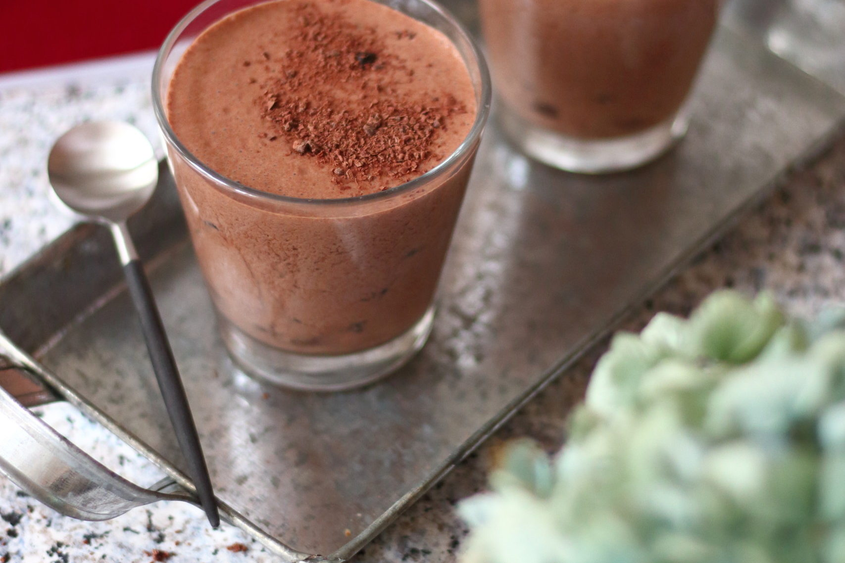 Iced Chocolate & almond milk drink