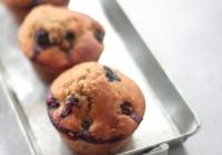 muffins myrtille flocons d'avoins et graines de lin